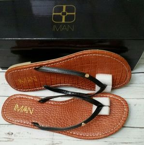 IMAN GOBAL CHIC Faux  Luxury Resort Flip Flop